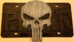 Punisher License Plate…